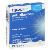 Equaline Anti-Diarrheal, 2 mg, Caplets, 24 Each