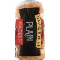 Davids Deli Bagels, Plain, Presliced, 5 Each