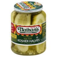 Nathan's Kosher Halves, New York, 32 Ounce