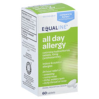 Equaline All Day Allergy, Original Prescription Strength, 10 mg, Tablets, 60 Each