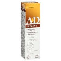 A+D Diaper Rash Ointment + Skin Protectant, Original Treatment, 4 Ounce