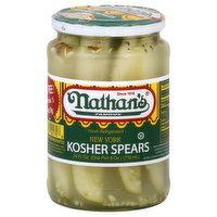 Nathan's Kosher Spears, New York, 24 Ounce