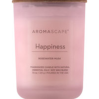 Aromascape Candle, Rosewater Musk, Happiness, 1 Each