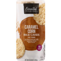 Essential Everyday Rice Cakes, Fat Free, Caramel Corn, 6.56 Ounce