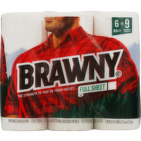 Brawny Paper Towels, Full Sheet, 2-Ply, 6 Each
