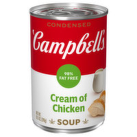 Campbell's Condensed Soup, 98% Fat Free, Cream of Chicken, 10.5 Ounce