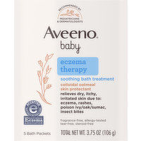 Aveeno Baby Soothing Bath Treatment, Eczema Therapy, 5 Each
