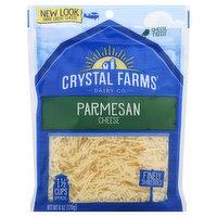 Crystal Farms Cheese, Parmesan, Finely Shredded, 6 Ounce