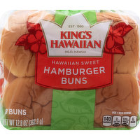 Kings Hawaiian Hamburger Buns, Hawaiian Sweet, 8 Each
