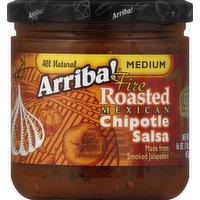 Arriba! Salsa, Fire Roasted Mexican Chipotle, Medium, 16 Ounce