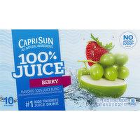 Capri Sun 100% Juice, Berry, 10 Each