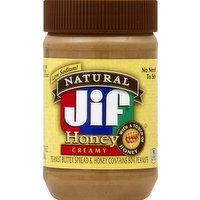 Jif Peanut Butter Spread, Honey, Creamy, 16 Ounce