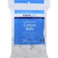 Equaline Cotton Balls, Super Jumbo, 70 Each