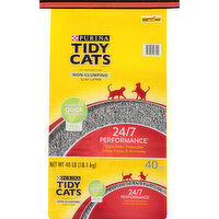 Tidy Cats Litter, Clay, Non-Clumping, 24/7 Performance, 40 Pound