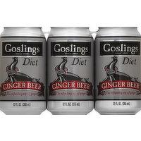 Gosling's Ginger Beer, Diet, 6 Each