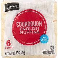 Essential Everyday English Muffins, Sourdough, Pre-Sliced, 6 Each