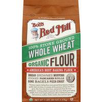 Bob's Red Mill Flour, Organic, Whole Wheat, 100% Stone Ground, 80 Ounce