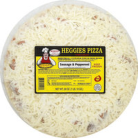 Heggies Pizza Pizza, Thin Crust, Sausage & Pepperoni, 26 Ounce