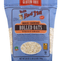 Bob's Red Mill Rolled Oats, Quick Cooking, Gluten Free, Whole Grain, 28 Ounce
