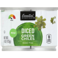 Essential Everyday Green Chiles, Mild, Diced, 4 Ounce
