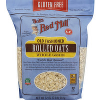 Bob's Red Mill Rolled Oats, Old Fashioned, Whole Grain, 32 Ounce