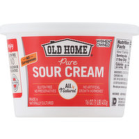 Old Home Sour Cream, Pure, 16 Ounce