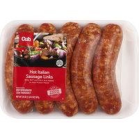Cub Italian Sausage, Hot, Links, 20 Ounce