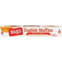 Bays English Muffins, Original, 6 Each
