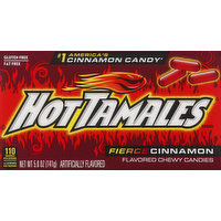Hot Tamales Candies, Fierce Cinnamon, Chewy, 5 Ounce