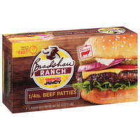 Bradshaw Ranch Beef Patties, 1/4 Pound, Thick N Juicy, 8 Each