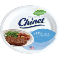Chinet Platters, Classic White, 24 Each