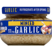 Spice World Garlic, Minced, 4.5 Ounce