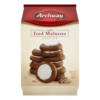Archway Cookies, Iced Molasses, Soft, 12 Ounce