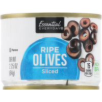 Essential Everyday Olives, Ripe, Sliced, 2.25 Ounce