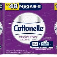 Cottonelle Toilet Paper, Mega Roll, 2-Ply, 12 Each