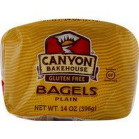 Canyon Bakehouse Bagels, Plain, Pre-Sliced, 14 Ounce