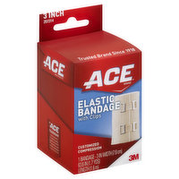 ACE Bandage, Elastic, with Clips, 3 Inch, 1 Each
