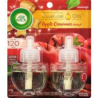 Air Wick Scented Oil Refills, Apple Cinnamon Medley, 2 Pack, 2 Each