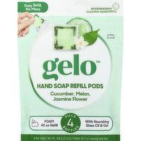 Gelo Hand Soap Refill Pods, Foaming, Cucumber, Melon, Jasmine Flower, 8 Each