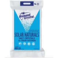Diamond Crystal Solar Natural Salt Crystals for Water Softeners, 40 Pound