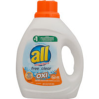 all Detergent, with Stainlifters, Oxi, Free & Clear, 88 Fluid ounce