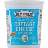 Old Home Cottage Cheese, Small Curd, 4% Milkfat Minimum, 32 Ounce