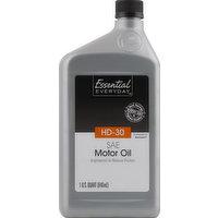 Essential Everyday Motor Oil, SAE HD-30, 1 Quart