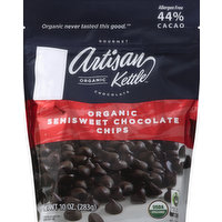 Artisan Kettle Chocolate Chips, Semisweet, Organic, 10 Ounce