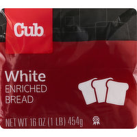 Cub Bread, Enriched, White, 16 Ounce