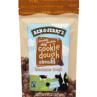 Ben & Jerry's Cookie Dough, Chocolate Chocolate Chip, Chunks, 8 Ounce