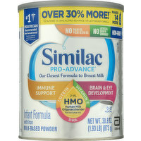 Similac Infant Formula, with Iron, Milk-Based Powder, 0-12 Months, 30.8 Ounce