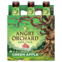 Angry Orchard Beer, Green Apple, Hard Cider, 6 Each