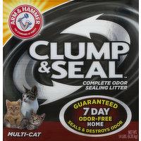 Arm & Hammer Litter, Complete Odor Sealing, Multi-Cat, 14 Pound