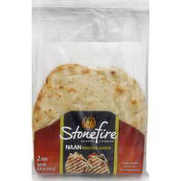 Stonefire Naan, Roasted Garlic, 2 Pack, 2 Each